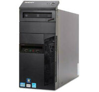 Intel i7 3.40 Ghz Lenovo Tower 8G 1T Wifi windows7 Pro Licensed
