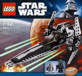 LEGO 7915 Star Wars - Imperial V-wing Starfighter. R2-Q2 & Pilot. RETIRED. BNISB