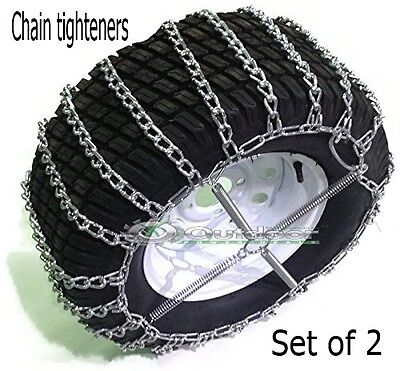 OPD Tire Chain Tighteners Tensioners ATV Garden Tractor Lawn Mower Set of 2 - Mower Tire Chains
