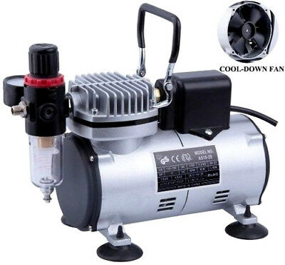 Mini Airbrush Kompressor Airbrushkompressor Ölfrei Kolbenkompressor Neu AS18-2S