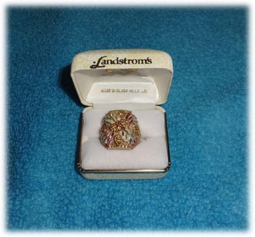 Landstroms Black Hills Gold Ring Ebay
