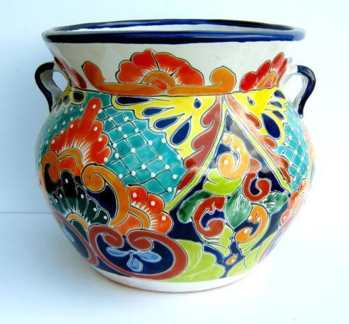 ceramic flower pots talavera planter pottery ebay 29963