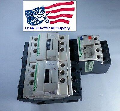 New Lc1d32 Pro. Reversing Motor Starter 10hp220v 27-32 Amp 20hp480v 23-32amp