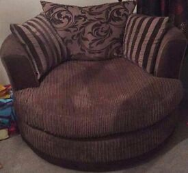 dfs large swivel cuddle chair