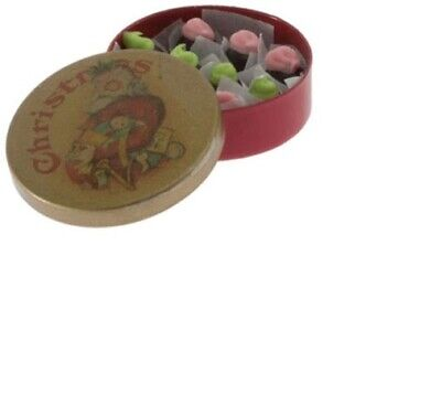 Dollhouse Miniatures 1:12 Scale Round Christmas Tin with Can