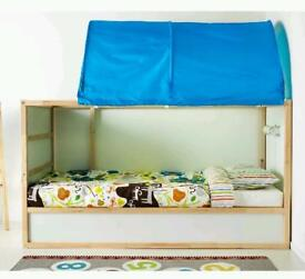 Ikea NEW Kura Blue white spots bed tent