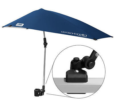 Beach Camping Fishing Clamp-On Outdoor Folding Chair Umbrella Patio Sun Shade ()