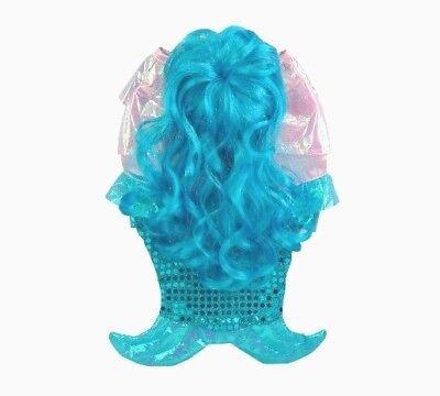 Dog Mermaid Costume (NEW Medium dog pet MERMAID fish Ariel costume outfit wig for 15-30lbs 14-16