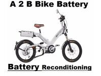 A2B Electric Bike Bike Battery Reconditioning SERVICE
