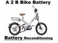 A2B Electric Bike Bike Battery Reconditioning SERVICE