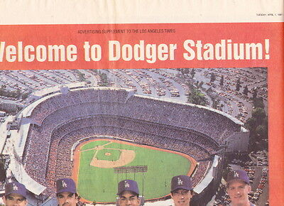 Los Angeles Dodgers 1997 La Times Special Section 4 1 97 Jackie Robinson