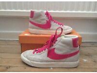 Nike Blazer Grey And Pink Size7