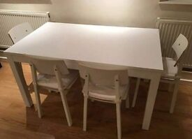 IKEA bujrsta table and 4 Sigurd chairs