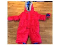 0-3 months snow suit/all- in-one