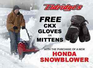 Eldridge's Honda Snowblower sale