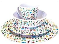 Brand new olpro Berrow hill dinner set camping plates bowls & mugs