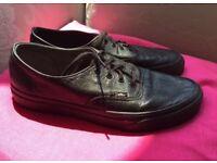 Leather Vans size 6