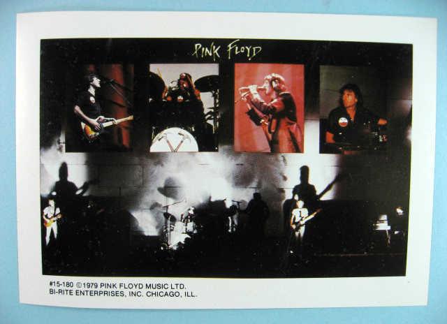 PINK FLOYD 1979  Mini-Poster Photo Sticker near MINT