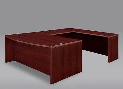 New Amber Bowfront U-shape Executive Office Desk Shell