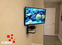 Installation TV au mur selon votre budget