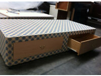 SINGLE BED BASE WITH 2 STORAGE DRAWERS - AS NEW!