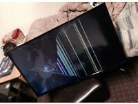 "Bush 42"" LED TV Has Cracked Screen Spares or Repairs Can Deliver"