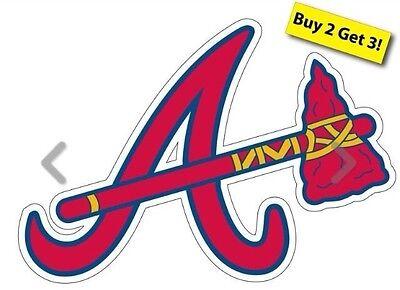 Atlanta Braves Mlb Baseball Decal  Sticker Free Shipping Buy 2 Get3 P102
