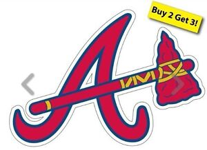 Atlanta Braves Mlb Baseball Decal/ Sticker Free Shipping Buy 2 Get3