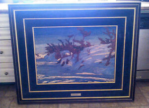 """A.Y. JACKSON """"WINTER GEORGIAN BAY"""" Group of Seven Painting"""