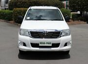 2013 Toyota Hilux GGN15R MY12 SR Double Cab 4x2 White 5 Speed Automatic Utility Acacia Ridge Brisbane South West Preview