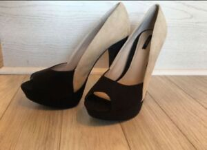 Forever 21 Beige and Black High Heels - NEW!