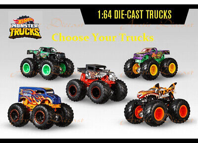 Hot Wheels 1:64 Diecast 2019 Monster Trucks - 41 Trucks To Pick From - 5/6/2020
