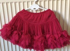 REPETTO pink, party GIRL frilly skirt, size 4 yrs (102cm)