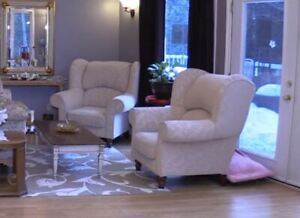 Two LARGE arm chairs for sale