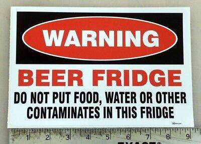"""Beer Fridge"" sticker decal sign"