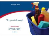 All types of cleaning in London (office and domestic).