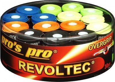 Pro' Pro 10x Revoltec Griffband TENNIS,BADMINTON, SQUASH, bunt, Sehr klebrig