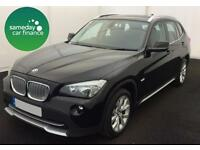 £260.39 PER MONTH BLACK 2010 BMW X1 2.0 XDRIVE SE STEP ESTATE DIESEL AUTOMATIC