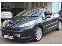 Peugeot 207 Coupe - black 1.6 16v 51,000 miles REDUCED