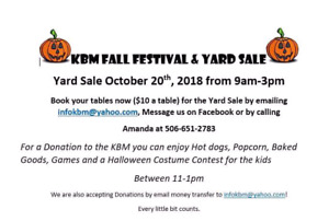 FALL FESTIVAL and YARD SALE