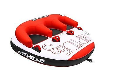 Airhead Riptide 3 Triple Rider Inflatable Boat Towable Backrest Tube | AHRT-13