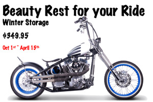 Beauty Rest for your Ride - Seasonal Motorcycle Storage