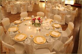 Cream Table Cover Hire £9 Ivory Chair Cover Rental 79p Royal Throne Rental £199 Cylinder Vase Hire