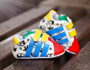Baby-Boy-Girl-Colourful-Soft-Sole-Sneakers-Crib-Shoes-Age-6-12-Months