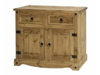 All New Solid Cheap Corona Mexican Pine Sideboard 2 drawer 2 door £119