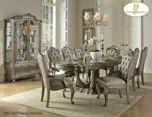 Elaborated Silver Finish Dining Set - 7 Piece (MA503)