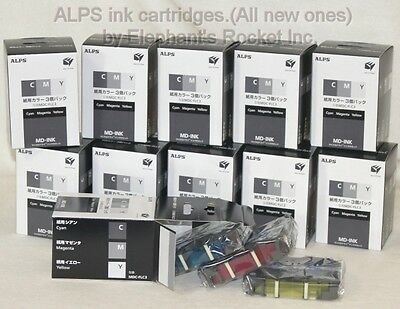 ALPS ink CMY(Cyan,Magenta,Yellow)Package MDC-FLC3 :11packs new:Elephant