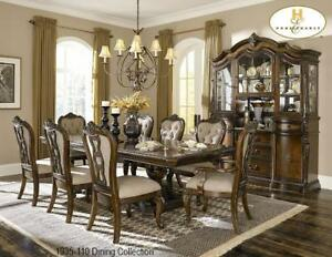 Double pedestal Solid Wood Dining Set (MA505)