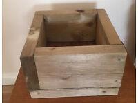 Wooden garden or indoor square planter