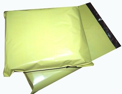 100x Yellow Plastic Mailing Bags 10x14